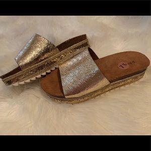 Slip on platform sandals